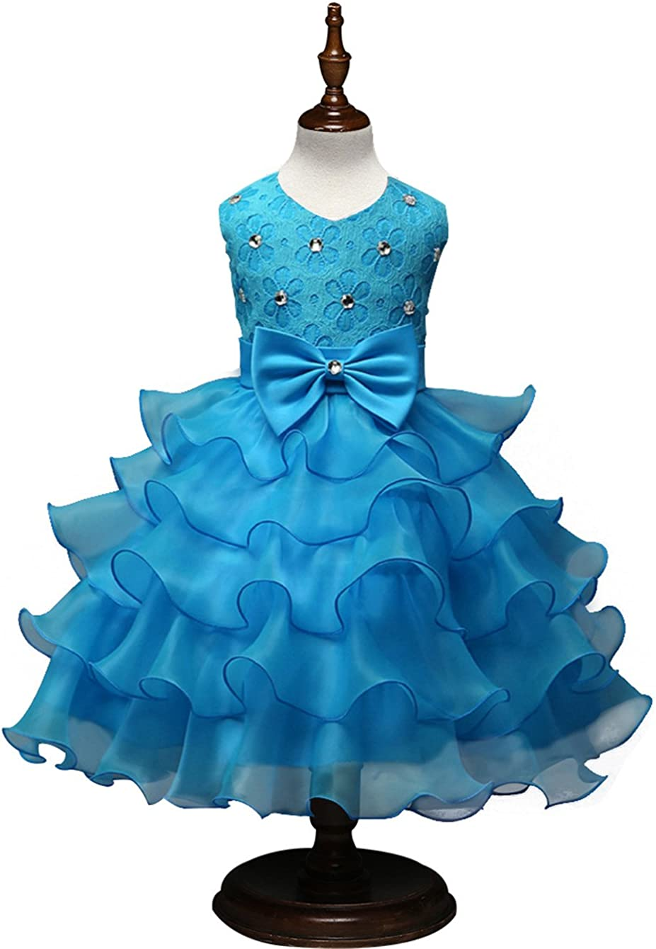 Csbks Girls Wedding Party Dress Pageant Baby Ruffles Tulle Princess Dresses