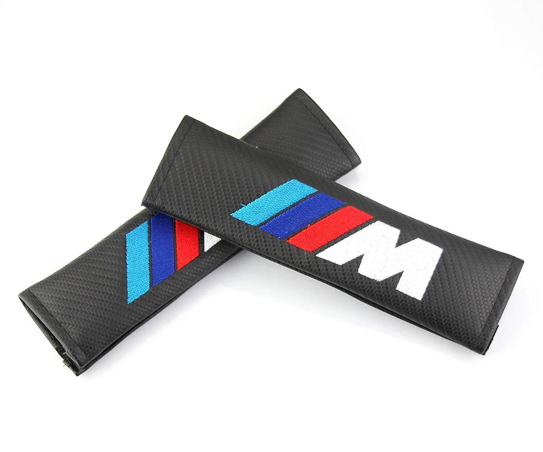 Carbon Fiber Seat Belt Cover Shoulder Pad Cushion For AMG GLK300 GLA C200L GLC CLA /… 2 pcs