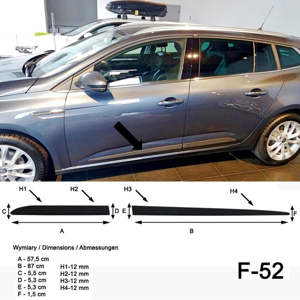 Listelli di Protezione Laterali Spangenberg 370005203 Anno di Costruzione 04.2016- F52 per Renault Megane IV Grandtour Station Wagon