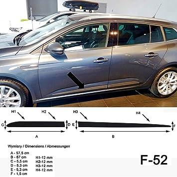 Spangenberg Listones de protección Lateral, Color Negro, para Renault Megane IV Grandtour Combi a