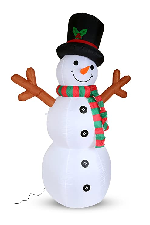 Muñeco de nieve hinchable 180 cm de alto: Amazon.es: Hogar