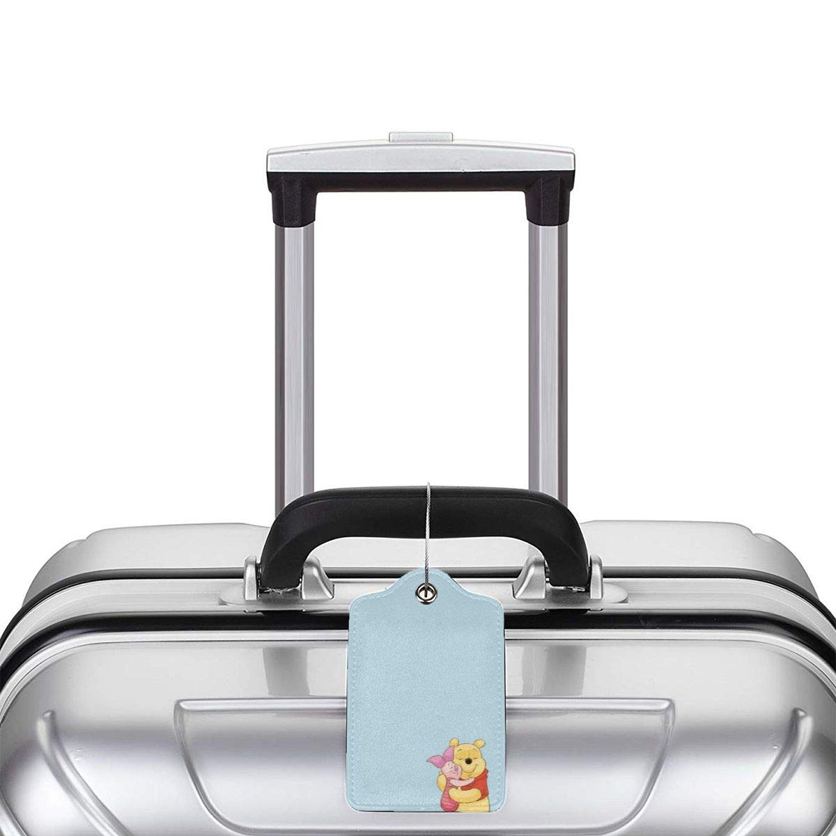 Suit For Travel,Vacation Fashion Edward Pooh Soft Leather Luggage Tags With Privacy Cover 1-4 Pcs Choose