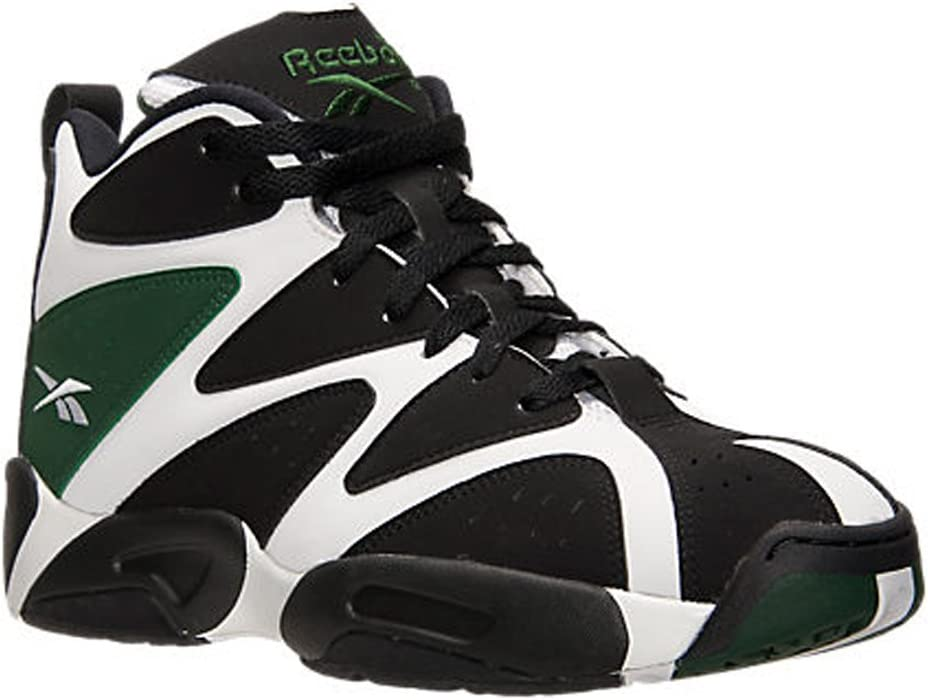 Reebok Kamikaze I Mid Gs White//Black//Green Gs Basketball V61800
