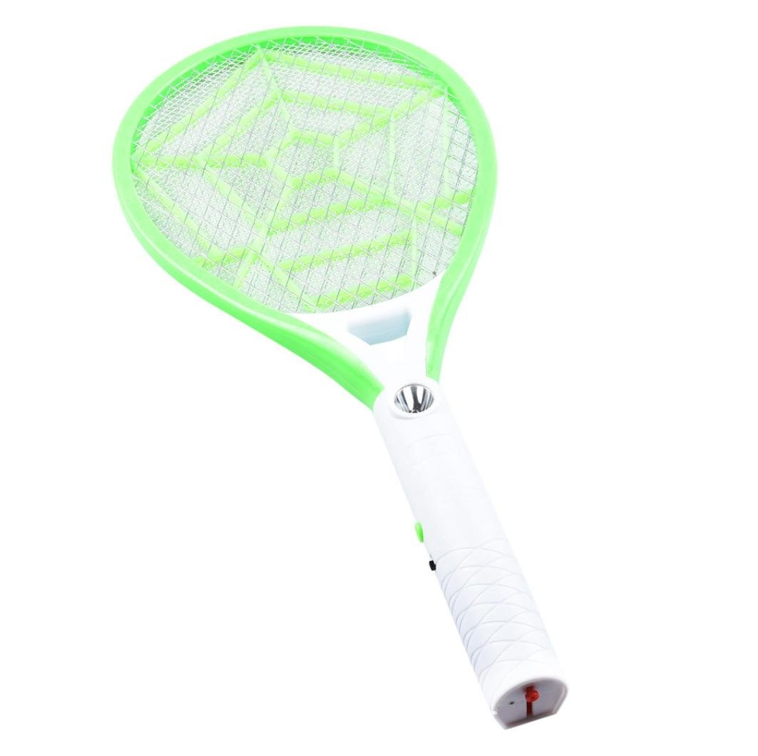 Sikye Electric Fly Swatter,Rechargeable LED Flies Mosquito Killers Bug Zapper Racket