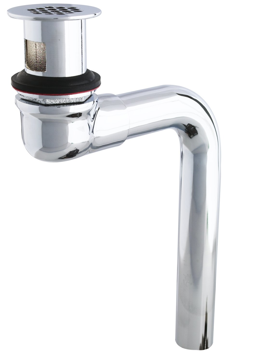 T&S Brass B-0898-OF Grid Drain Assembly, Offset, Polished Chrome