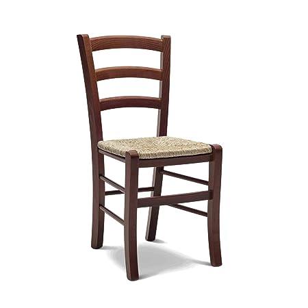 ARREDinITALY Set 2 sedie Ida in Legno Massello di Faggio