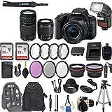 Canon EOS Rebel SL2 DSLR Camera EF-S 18-55mm f/4-5.6 IS STM Lens + EF 75-300mm f/4-5.6 III + 2Pcs 32GB Sandisk Memory + Automatic Flash + Filter & Macro Kits + Backpack