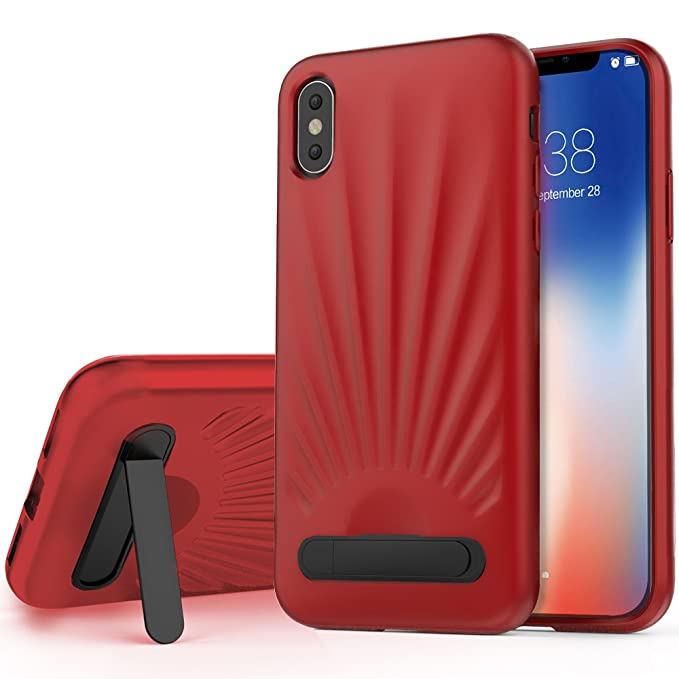 the latest e6d60 7fbe3 Amazon.com: iPhone X Case, iPhone X Kickstand Case, ZVE iPhone X ...