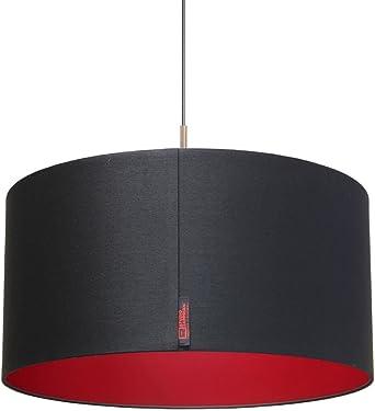 Studio Zapp riani Black Rose a, pantalla de lámpara techo techo, textura, 60 W, E27, Negro, 50 x 25 cm: Amazon.es: Iluminación