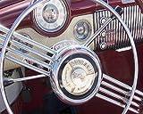 Buick Skylark, Old Car Photo, Dashboard Photo, Automotive Art, Automobile Art, Boyfriend Gift, Vintage Car Art, Steering Wheel, Canvas Wrap