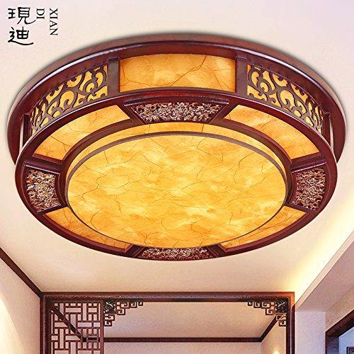 Blyc Moderne Runde Led Decke Lampe Neue Chinesische Feste Holz Holz