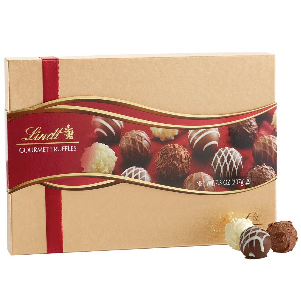 Amazon.com : Lindt Gourmet Truffles Gift Box, 7.3 oz. : Gourmet ...