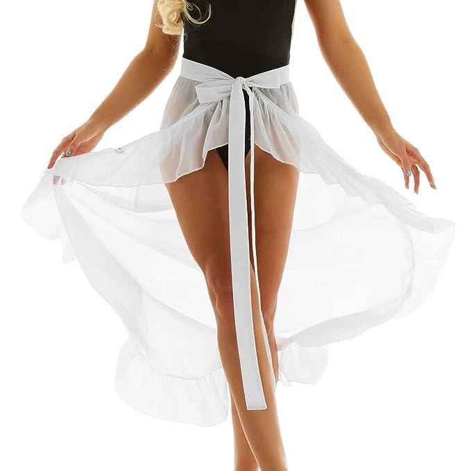 iixpin Falda de Playa Irregular Bikini Cover Up Pareo de Playa de ...