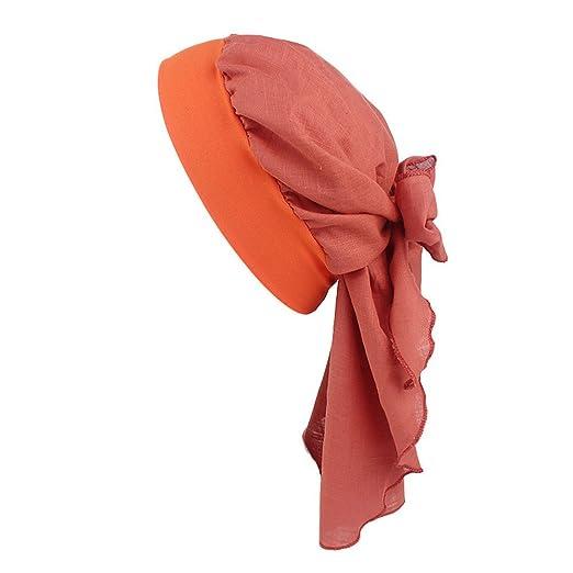 Limsea Women Cotton Linen Headband Hat Retro Country Style Elastic ... 70cf1f714dd