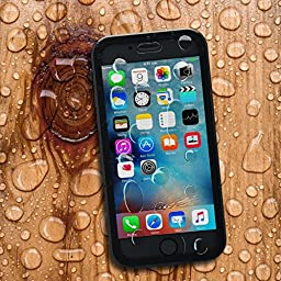 "Mengo Hydro Series iPhone 6S Waterproof Case (4.7"" Version) Thin, Light Weight, Dustproof & Shockproof (Black)"