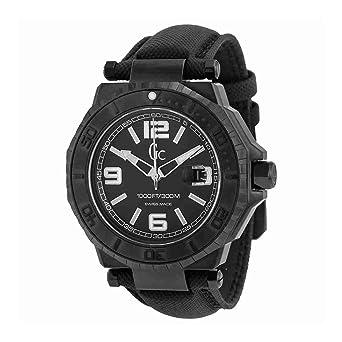 Guess X79011G2S - Reloj con correa de caucho para hombre, color negro / gris: Amazon.es: Relojes