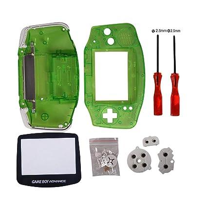 Timorn Reemplazo completo de piezas de Shell Pack para Nintendo Game Boy Advance (verde transparente)