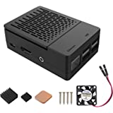 iUniker Raspberry Pi 3 B+ Case, Raspberry Pi Fan ABS Case with Cooling Fan, Raspberry Pi Heatsink, Simple Removable Top Cover