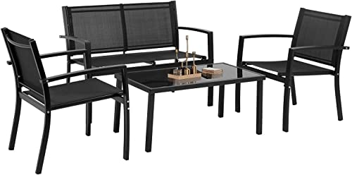 Patio Conversation Sets Patio Furniture Outdoor Table and Chairs 4 Piece Patio Set