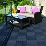 Multy Industries Multy Home MT5100057 6-Pack Deck and Balcony Tile, 12 by 12-Inch, Slate