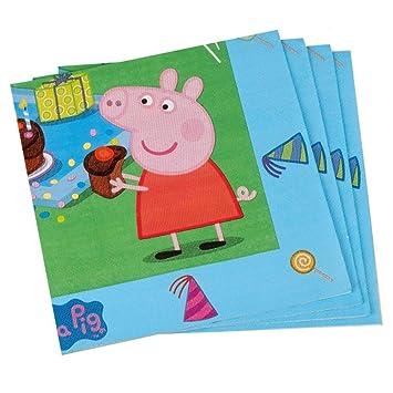 Peppa Pig Servilletas | 20 Piezas Niños Fiesta de Cumpleaños ...