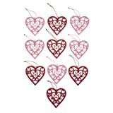 Amazon Price History for:Valentine's Day Ornaments, Set of 10
