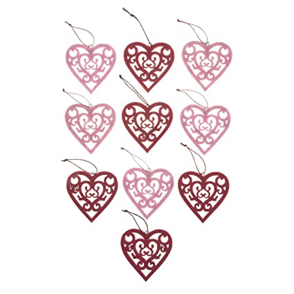 Amazon Com Fox Valley Traders Valentine S Day Ornaments Set Of 10