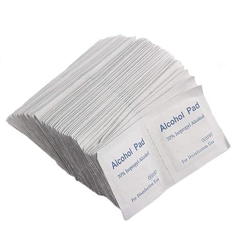 Erduo 100 UNIDS/Caja Profesional de Alcohol Toallita Toallita Hisopo Antibacterial Limpiador de Limpieza de