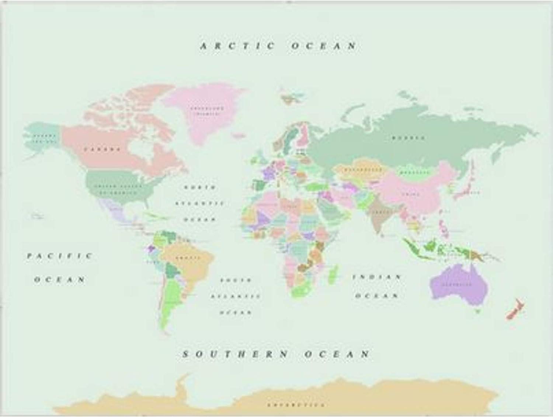 Miss Wood Watercolor Retro L Mapa de Corcho, Madera, Multicolor, L (45 x 60 cm): Amazon.es: Hogar