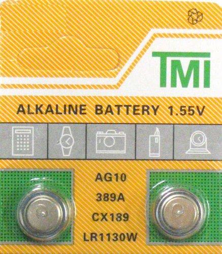 2 pack AG10 189 389 LR54 LR1130 Alklaine Button cell Battery -