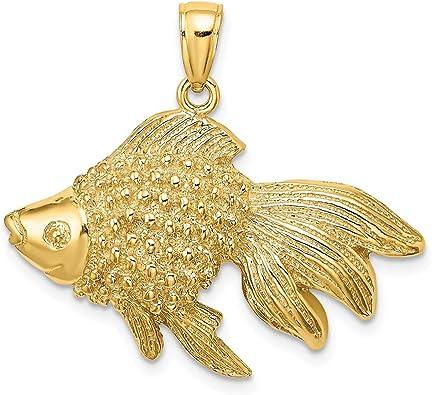 14K or jaune petits poissons charme