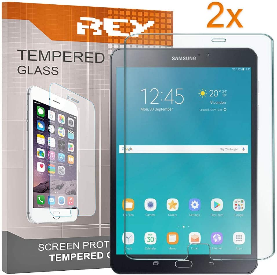 REY 2X Protector de Pantalla para Samsung Galaxy Tab S3 9.7