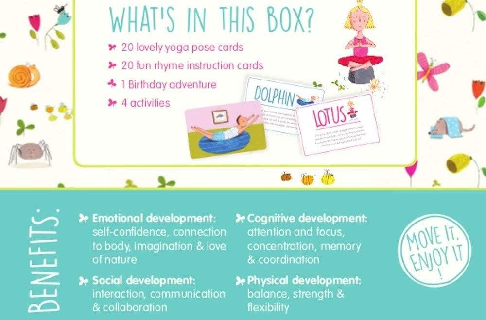 Amazon.com: Yogi Fun Kids Tarjetas de yoga Kit Actividad Con ...