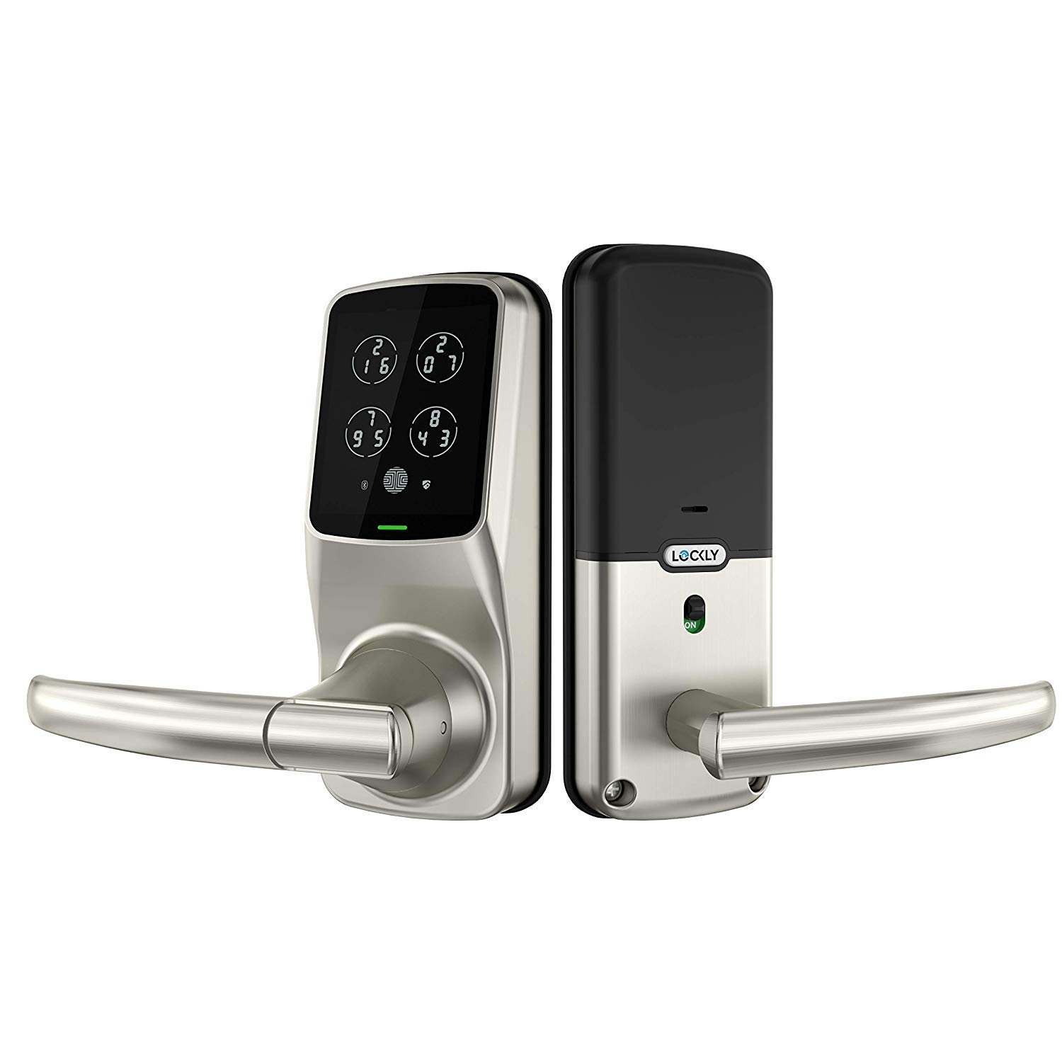 Lockly Bluetooth Keyless Entry Door Smart Lock (PGD628) | Advanced Electronic Touchscreen System | Discrete PIN Code Input | iOS and Android Compatible | Auto Lock | Battery Backup | Latch Edition