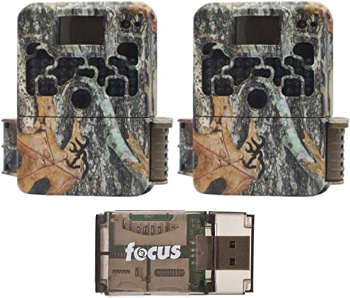 Browning Trail Cameras Strike Force Extreme 16 MP Game Cameras 2X and Focus USB Reader Bundle
