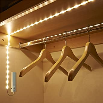 Littlegrass led strip lights under cabinet lighting fixture battery littlegrass led strip lights under cabinet lighting fixture battery wireless motion sensor for cabinet cupord closet aloadofball Gallery
