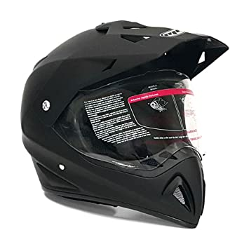 Motocross Full Face casco – Dual deporte Off Road Motorcycle Dirt Bike ATV – con tapa