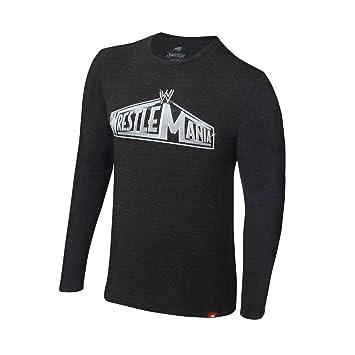 WWE WrestleMania Logo - manga larga - Mens WWE camiseta auténticos (medio)