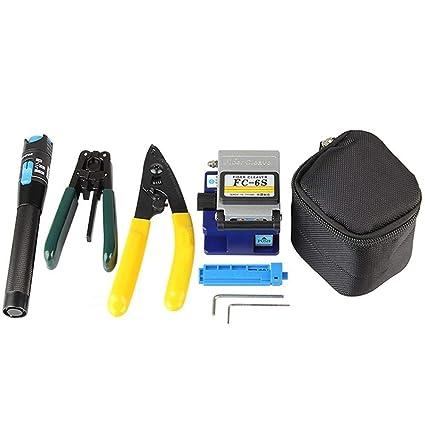 DAXGD Cable de fibra óptica herramienta 5 en 1 Kits de herramienta cable de pelacables de
