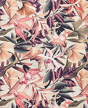 Tappeto Runner Lungo Colorato con Stampa Digitale con Piante di Cactus HomeLife Tappeto Cucina Antiscivolo Lavabile Made in Italy   Passatoia Moderna in Ciniglia Cm 58X80 Cm 58X80