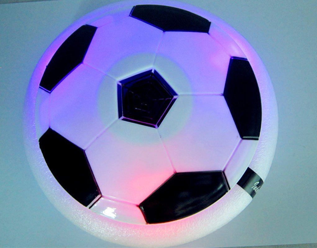 Indoor Fun Hover Soft Football Light up Floating Disc Sport Toy for Kids Childrens