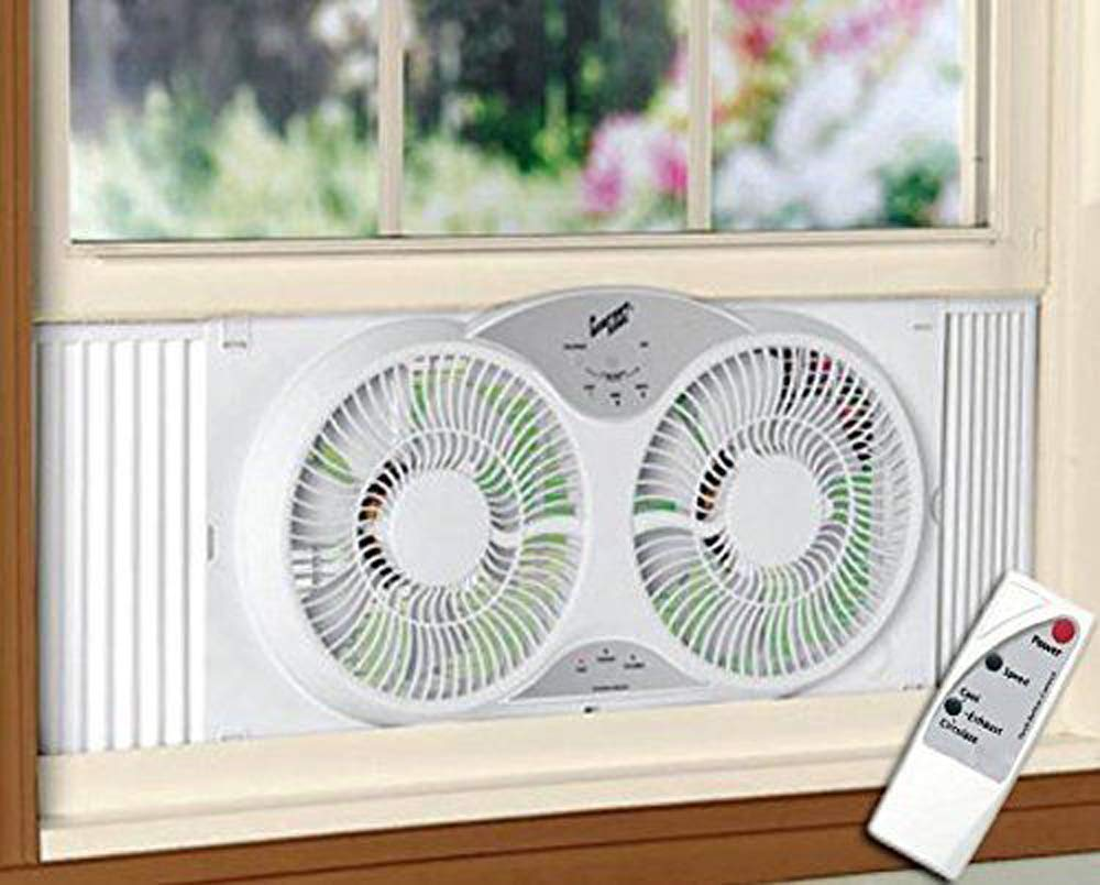 Portable Twin 9'' Reversible Window Fan HP by Unknown