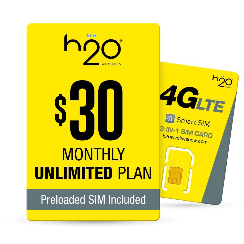 h2o $30/Month Plan - SIM Starter Kit Bundle by