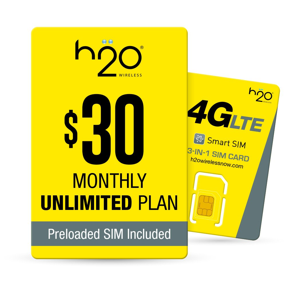H2O Wireless H2O-30 SIM BUNDLE - Unlocked Phone - Yellow