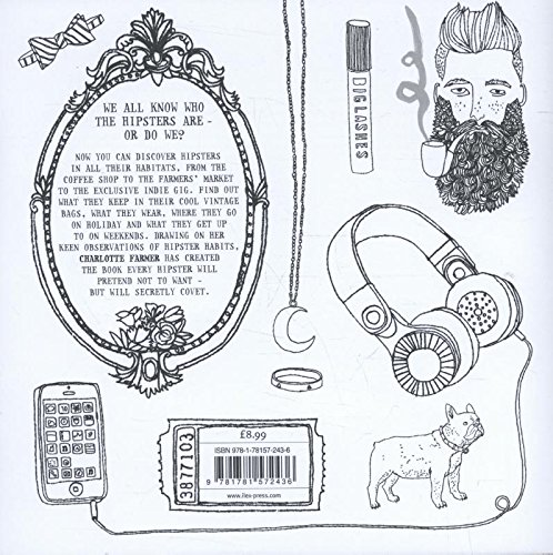 The Hipster Colouring Book Amazoncouk Charlotte Farmer 9781781572436 Books