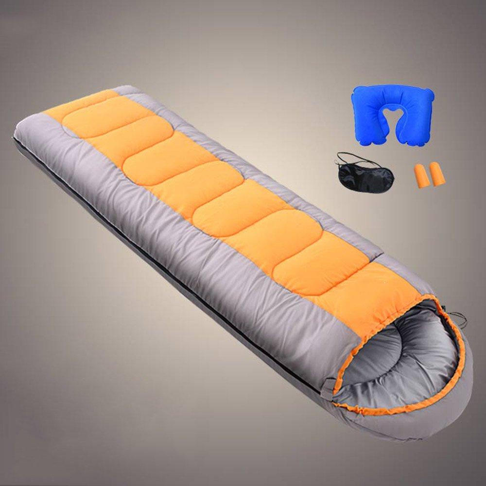 LWFB エンベロープ寝袋/屋外防水/ 4シーズン旅行のキャンプハイキング圧縮バッグ(210 * 75センチメートル)と長方形の寝袋 B07CJ61MNB 2#|オレンジ オレンジ 2#