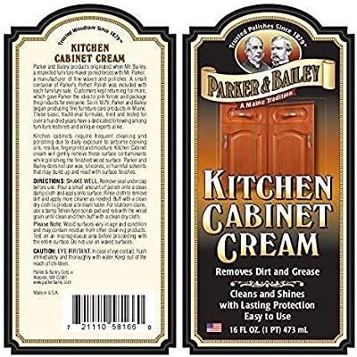 Buy Parker And Bailey Kitchen Cabinet Cream Wood Cleaner Grease Remover 16 Oz 1 Online In Indonesia B07r3gfpsl