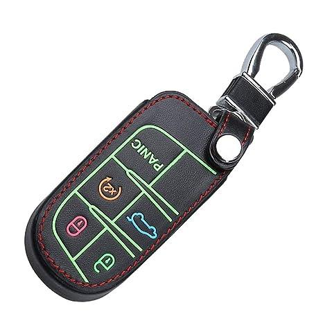 Amazon.com: Funda de piel para llaves con 5 botones y gancho ...