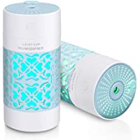 Portable Humidifiers Cool Mist Humidifier Ultrasonic Diffuser for Baby Humidifier with Adjustable Mist Output 7 colors…