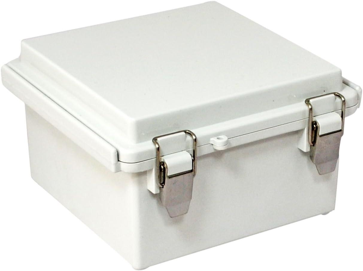 Bud Industries PC 10percentfiberglass caja con bisagras, IP67, gris, gris: Amazon.es: Bricolaje y herramientas